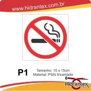 Placa P1 Proibido Fumar