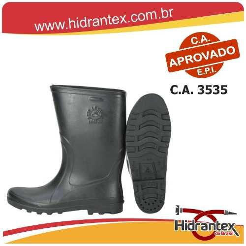 7417312f1b6 Bota Borracha Trator Cano Curto Alpargatas Sete Léguas Preta - Hidrantex do  Brasil