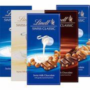 Barra de Chocolate Lindt Swiss Classic - Sabores