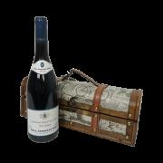 Caixa de Presente Baú com vinho
