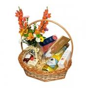 Cesta de Presente Especial com Espumante e flores
