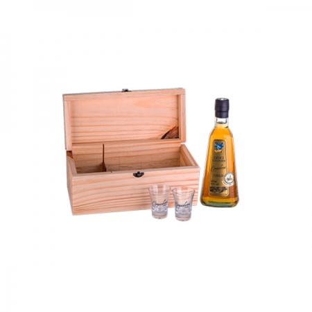 Kit Cachaça Companheira Extra Premium e 2 copos