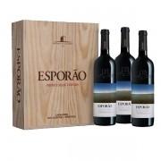Kit caixa com 3 Vinhos Tinto Esporão Private Selection