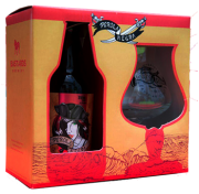 Kit Cerveja Artesanal Pérola Negra Russian Imperial Stout  310ml +1 Copo