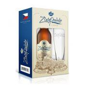 Kit Cerveja ZlatoPrazske Lager 500ml + Copo Tulipa 300ml