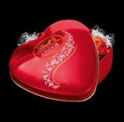 Chocolate Lindt Lindor Milk Crystal Coração  212g