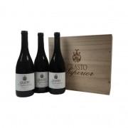 Vinho Crasto Superior Kit Caixa de Madeira c/ 3 vinhos 750ml