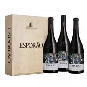 Vinho Tinto Esporão Reserva Caixa  de Madeira com 3 vinhos