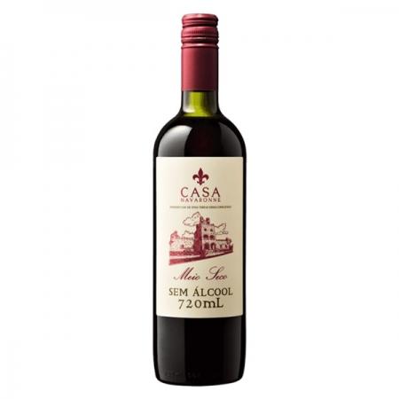 Vinho Tinto sem Alcool Meio Seco Casa Navarone 720ml