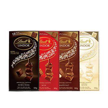 Barra de Chocolate Lindor Single - Sabores