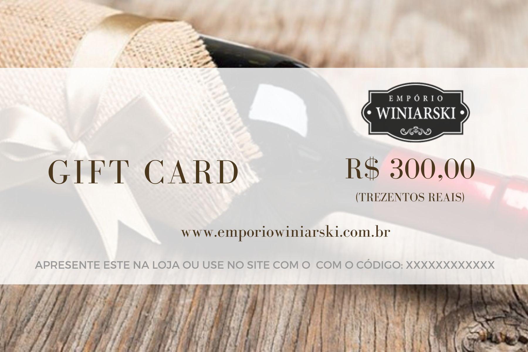 Cartão Presente Wine Empório Winiarski