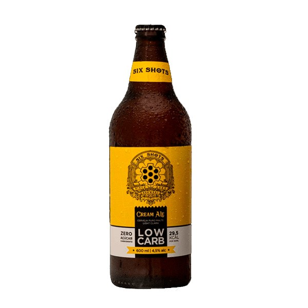 Cerveja Low Carb Six Shots 600ml