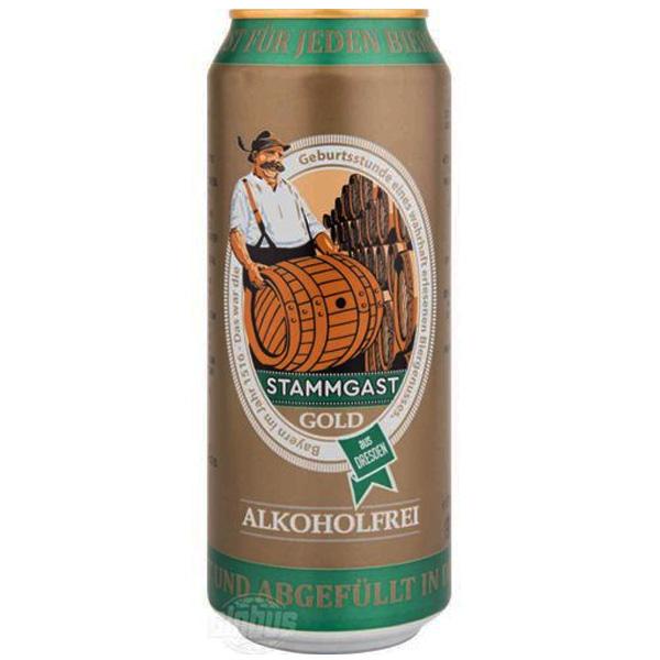 Cerveja Stammgast Gold Free Alkohol 500ml lata