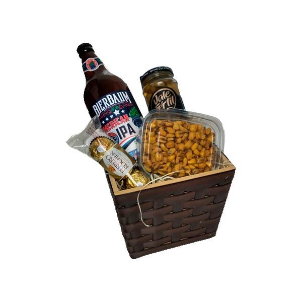 Cesta de Presente cachepô com cerveja