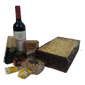 Cesta de Presente com vinho Pimenta Preta