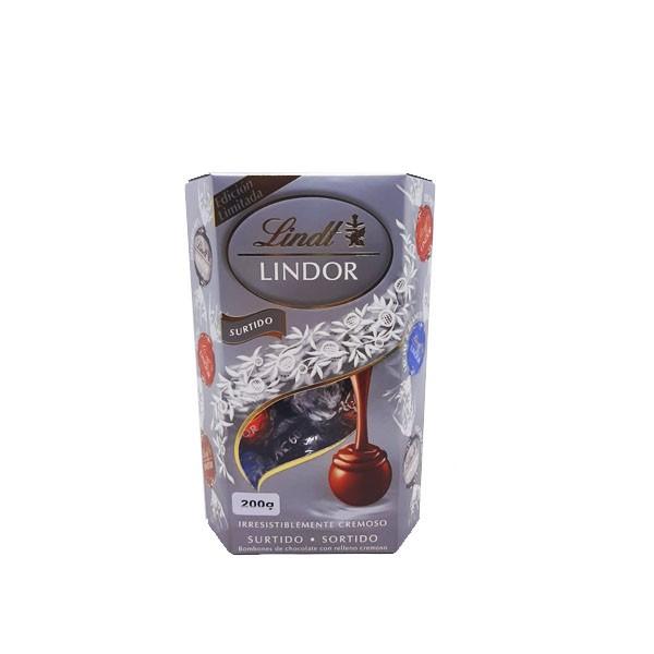 Chocolate Lindt Lindor Caixa Silver Edition Sortido 200g