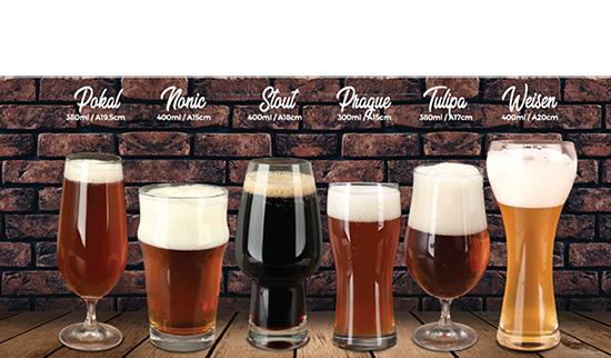 Jogo de 6 Taças para Cerveja Bierhaus em Cristal Ecologico