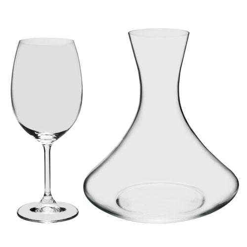 Jogo de Decanter e 2 Taças em Cristal Ecologico (1,5L + 2x450ml)
