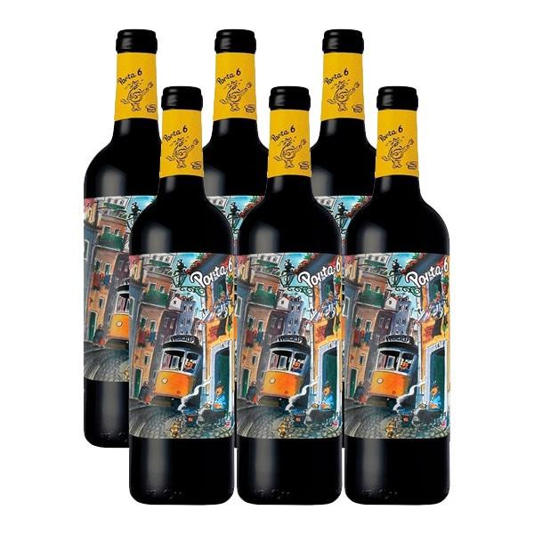 Kit 6 Vinhos Tinto Porta 6