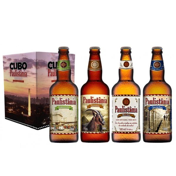 Kit Cubo Paulistânia Novos Estilos 4 cervejas 500ml