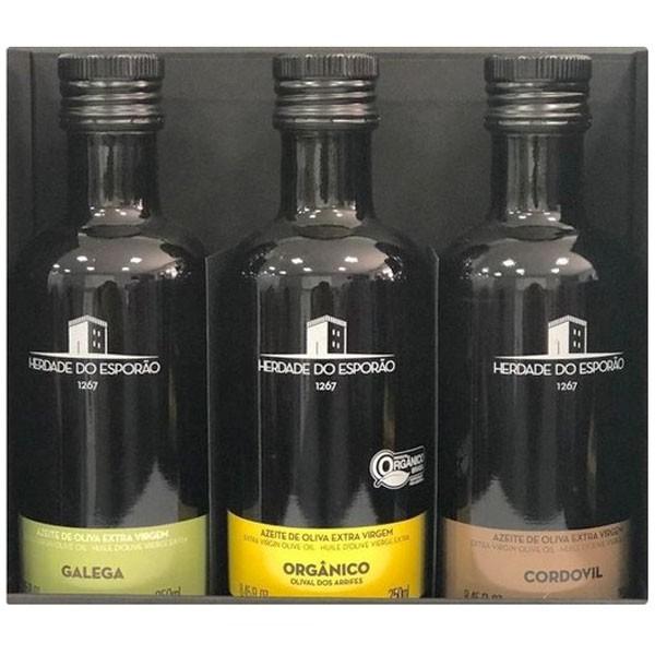 Kit de 3 Azeite de Oliva Herdade do Esporão Cordovil, Galega e Orgânico