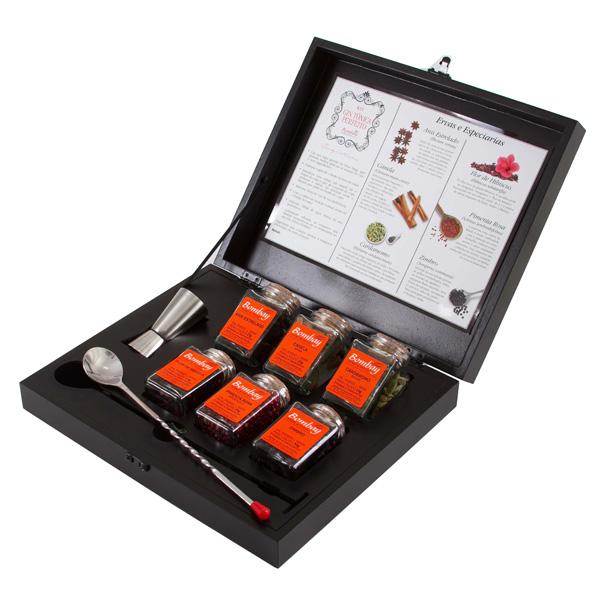 Kit Gin Tônica com Caixa de Madeira
