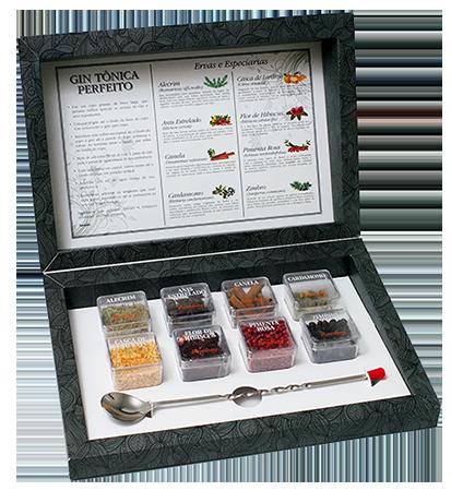 Kit Gin Tônica Perfeito Bombay 8 Especiarias +colher