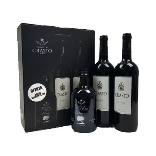 Kit Quinta do Crasto 2 Vinhos Crasto Douro DOC 750ml e ganhe 1 Azeite Selection 500ml