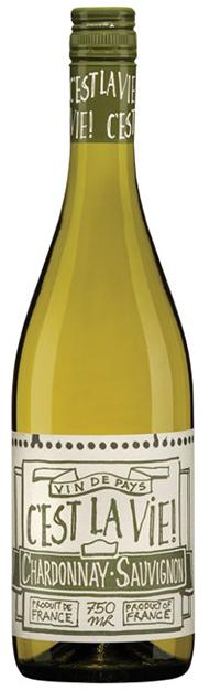Vinho Branco C'est La Vie! Chardonnay - Sauvignon 2016