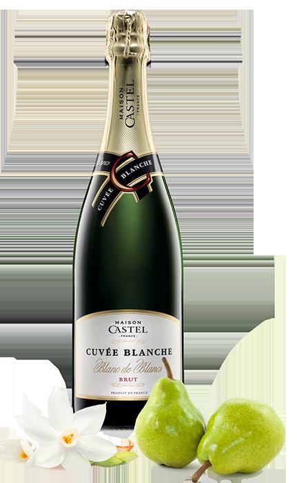 Vinho Branco Espumante Francês Castel Cuvée Blanche Brut