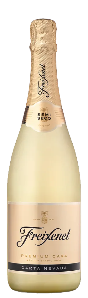 Vinho Branco Espumante Freixenet Premiun Cava Demi-Sec Carta Nevada