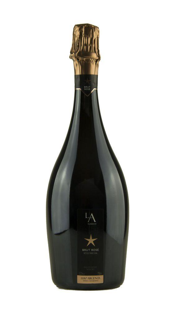 Vinho Branco Espumante Luiz Argenta L.A. Brut Rosé Método Tradicional