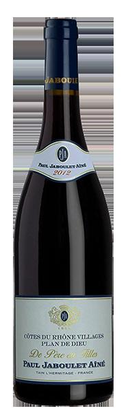 Vinho Tinto Cotes Du Rhône Villagens Plan de Dieu De Peres em Filles 2016