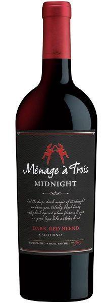Vinho Tinto  Ménage a Trois Midnight Dark Red Blend Califórnia 750ml