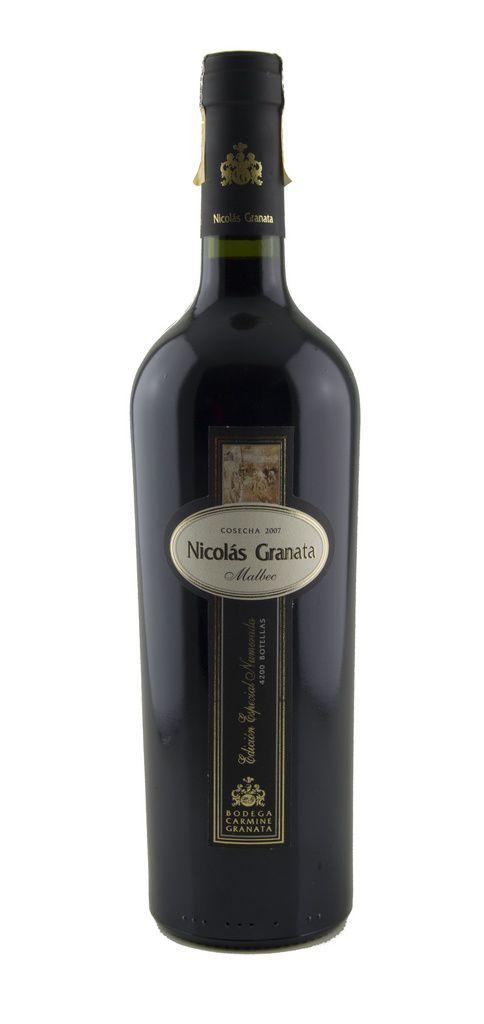 Vinho Tinto Nicolás Granata Malbec Edición Especial Numerada Cosecha 2007