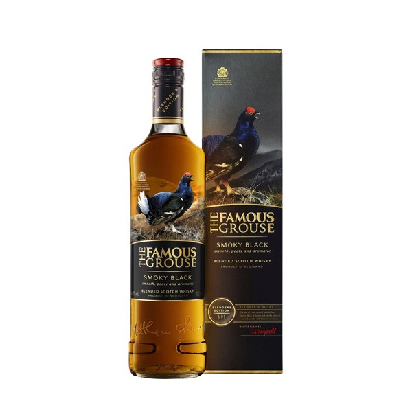 Whisky Escocês The Famous Grouse Smoky Black 750 ml