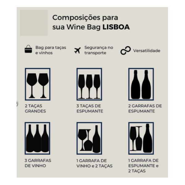 Winebag Momentus Lisboa Marrom
