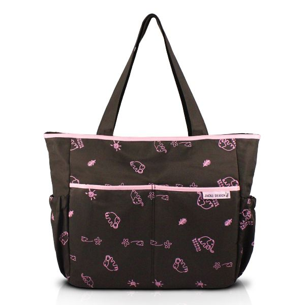 3715343fe Bolsa de Bebê Estampada - Marrom e Pink