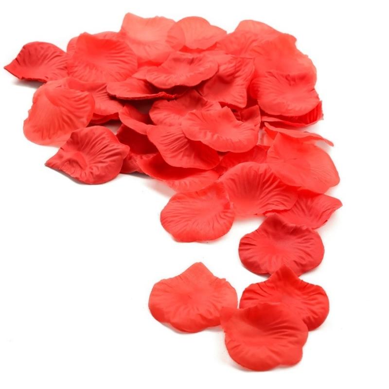 100 Pétala De Rosa Artificiais Diversas Cores Escolha