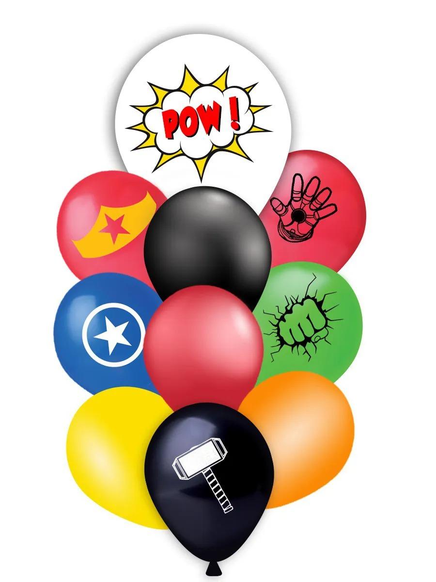 Kit Buquê herois vingadores 10 Unidades - Balão - Bexiga