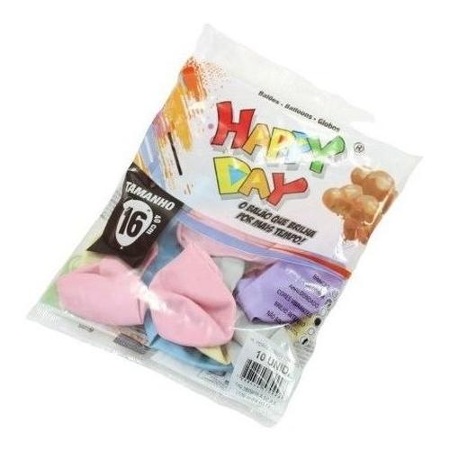 10 Unidades Tamanho 16 Balão Perolado Candy Color