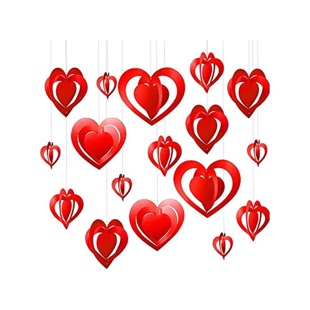 16 Aplique para teto coração papel metalizado