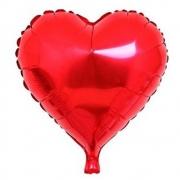 10 Balão Metalizado coração médio