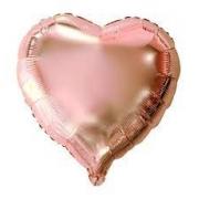 10 Balão Metalizado coração rose gold médio