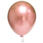 25 Balão Bexiga rose gold Cromado Metalizado platino Alumínio N 9
