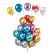 25 Balão Cromado Redondo tamanho 5