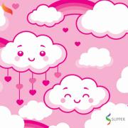 2 metros tnt nuvem chuva de amor rosa