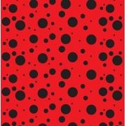 2 metros tnt poá bolinha vermelho e preto