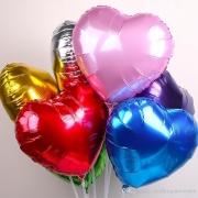 300 Balão Metalizado Coração 45cm