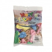 50 balão candy color redondo tamanho 9